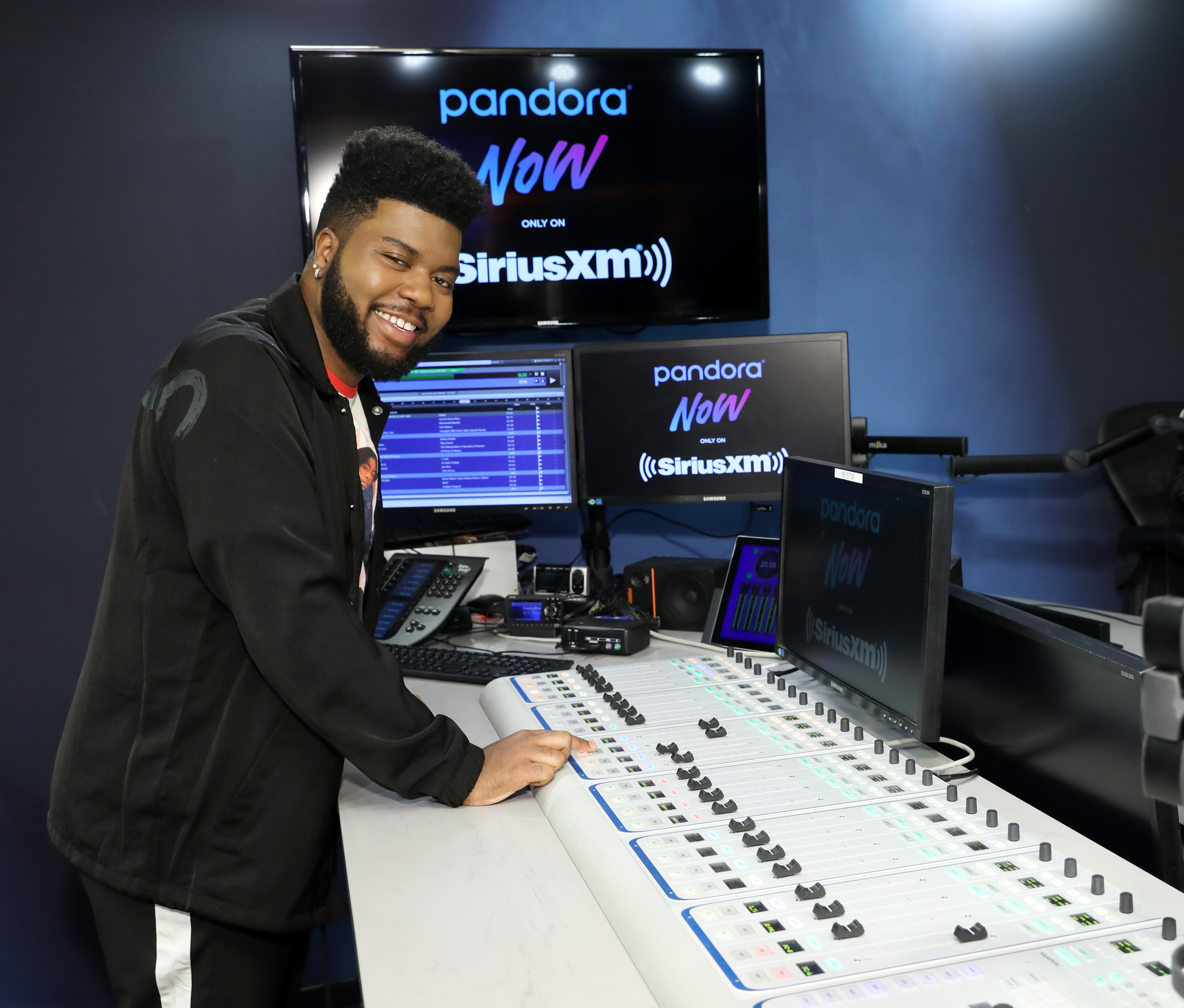 SiriusXM And Pandora Launch Pandora NOW With Khalid At The SiriusXM Studios In New York City